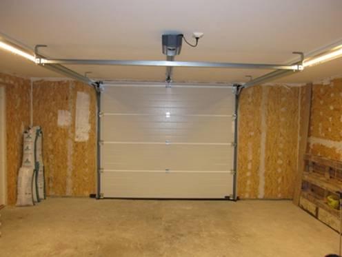 Isolera garage inifrån